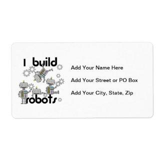 Construyo los robots etiqueta de envío