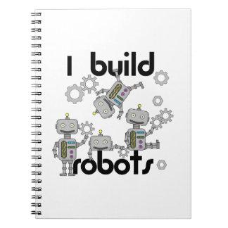 Construyo los robots libros de apuntes con espiral
