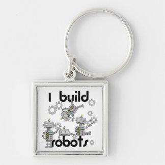 Construyo los robots llavero cuadrado plateado
