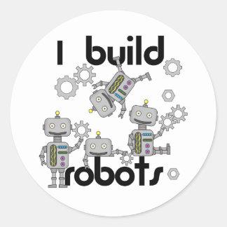 Construyo los robots pegatina redonda