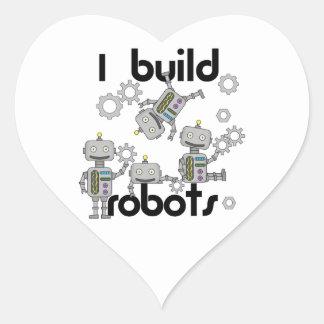 Construyo los robots pegatina en forma de corazón
