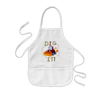 Constuction Vehicle Dig It Tshirts and Gifts Kids' Apron