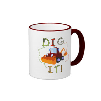 Constuction Vehicle Dig It Tshirts and Gifts Ringer Coffee Mug