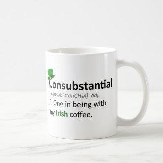 Consubstancial: Uno en estar con mi café irlandés Taza