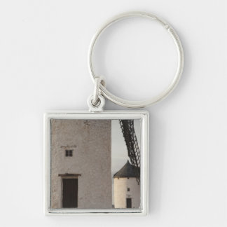 Consuegra, antique La Mancha windmills 2 Silver-Colored Square Keychain