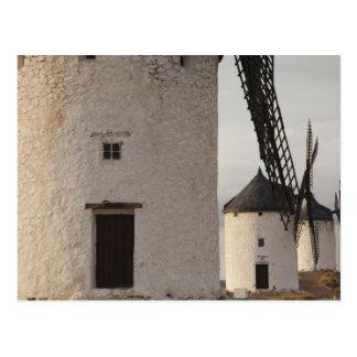 Consuegra, antique La Mancha windmills 2 Postcard