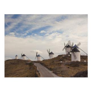Consuegra, antique La Mancha windmills 4 Postcard