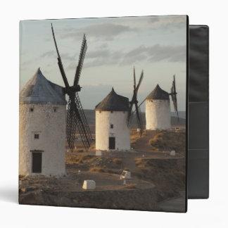 Consuegra, antique La Mancha windmills 5 3 Ring Binder
