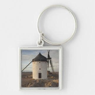 Consuegra, antique La Mancha windmills 7 Silver-Colored Square Keychain