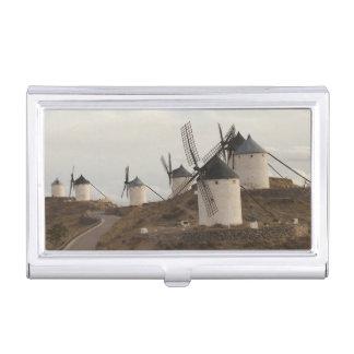 Consuegra, antique La Mancha windmills Business Card Holder