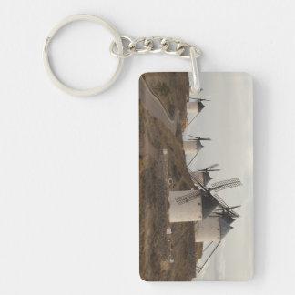 Consuegra, antique La Mancha windmills Double-Sided Rectangular Acrylic Keychain