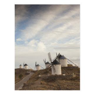 Consuegra, antique La Mancha windmills Postcard
