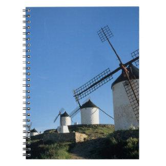 Consuegra, La Mancha, España, molinoes de viento 2 Libretas Espirales