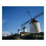 Consuegra, La Mancha, España, molinoes de viento 2 Poster