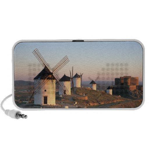 Consuegra, La Mancha, España, molinoes de viento Laptop Altavoces