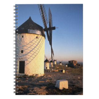 Consuegra, La Mancha, España, molinoes de viento Libreta Espiral