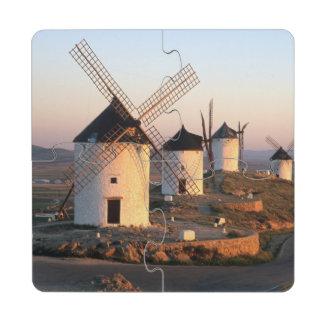 Consuegra, La Mancha, España, molinoes de viento Posavasos De Puzzle