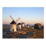 Consuegra, La Mancha, España, molinoes de viento Tarjetas Postales