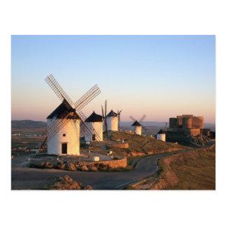 Consuegra, La Mancha, España, molinoes de viento Postales