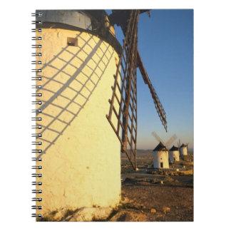 Consuegra, La Mancha, España, molinoes de viento y Spiral Notebooks