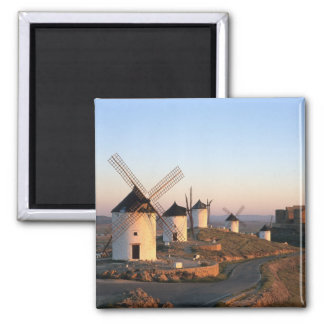 Consuegra, La Mancha, Spain, windmills 2 Inch Square Magnet
