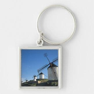 Consuegra, La Mancha, Spain, windmills 2 Silver-Colored Square Keychain