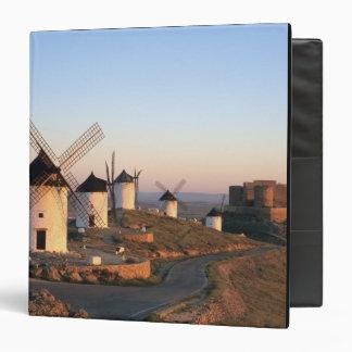 Consuegra, La Mancha, Spain, windmills 3 Ring Binder