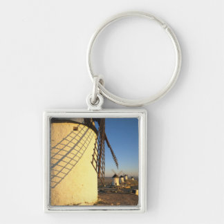 Consuegra, La Mancha, Spain, windmills and Silver-Colored Square Keychain