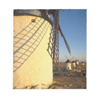 Consuegra, La Mancha, Spain, windmills and Notepad