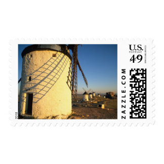 Consuegra, La Mancha, Spain, windmills and Postage