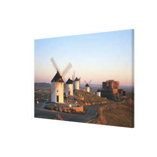Consuegra, La Mancha, Spain, windmills Canvas Print