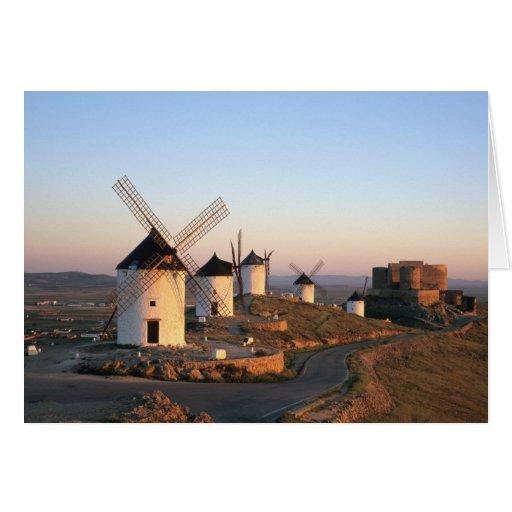 Consuegra, La Mancha, Spain, windmills Greeting Card
