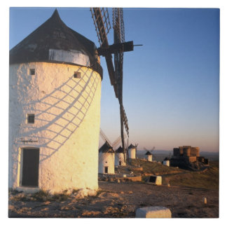Consuegra, La Mancha, Spain, windmills Ceramic Tile