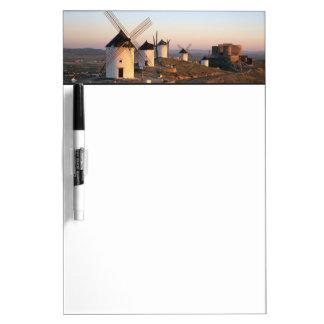 Consuegra, La Mancha, Spain, windmills Dry Erase Board