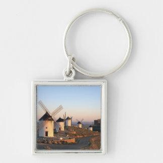 Consuegra, La Mancha, Spain, windmills Silver-Colored Square Keychain