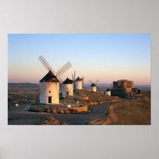 Consuegra, La Mancha, Spain, windmills Poster
