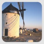 Consuegra, La Mancha, Spain, windmills Square Sticker