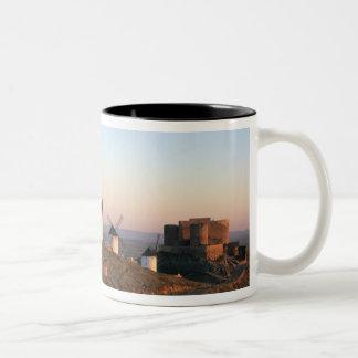 Consuegra, La Mancha, Spain, windmills Two-Tone Coffee Mug