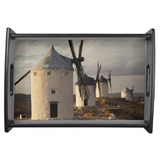 Consuegra, molinoes de viento antiguos 6 de Mancha Bandeja