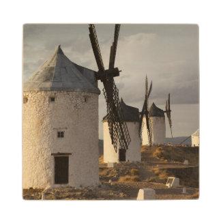 Consuegra, molinoes de viento antiguos 6 de Mancha Posavasos De Madera