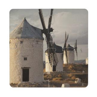 Consuegra, molinoes de viento antiguos 6 de Mancha Posavasos De Puzzle