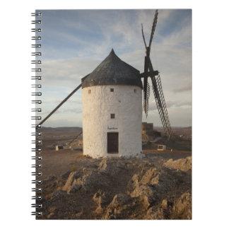Consuegra, molinoes de viento antiguos 7 de Mancha Libreta Espiral