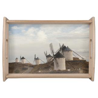 Consuegra, molinoes de viento antiguos de Mancha d Bandejas