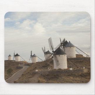 Consuegra, molinoes de viento antiguos de Mancha d Tapete De Ratones