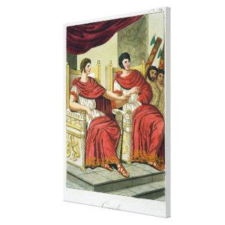 """Cónsules romanos, de """"L'Antica Roma"""", 1825 (color Impresión En Lienzo Estirada"""