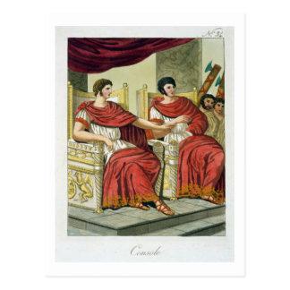 "Cónsules romanos, de ""L'Antica Roma"", 1825 (color Postal"