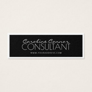 Consultant Black & White Bordered Card