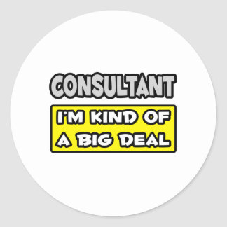 Consultant .. I'm Kind of a Big Deal Classic Round Sticker