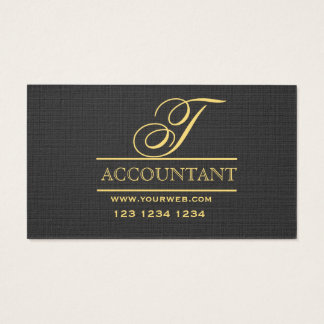 Consultant Simplicity Minimalist Black Gold Business Card