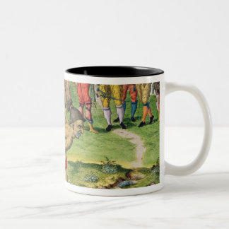 Consulting a Sorcerer, from 'Brevis Narratio' Two-Tone Coffee Mug